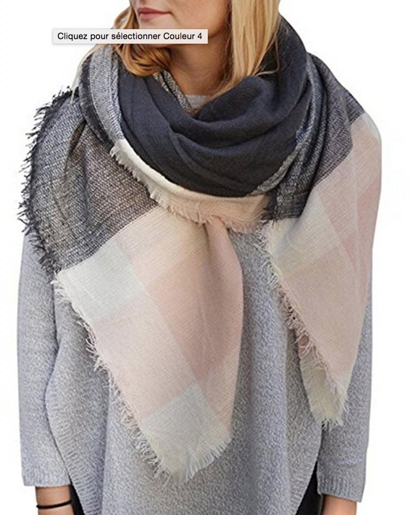 d5492c444a6 Echarpe châle en cachemire effet foulard