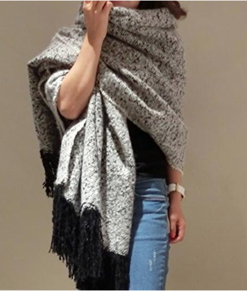 aa1a7eef15b Grande   grosse écharpe oversize pour femme
